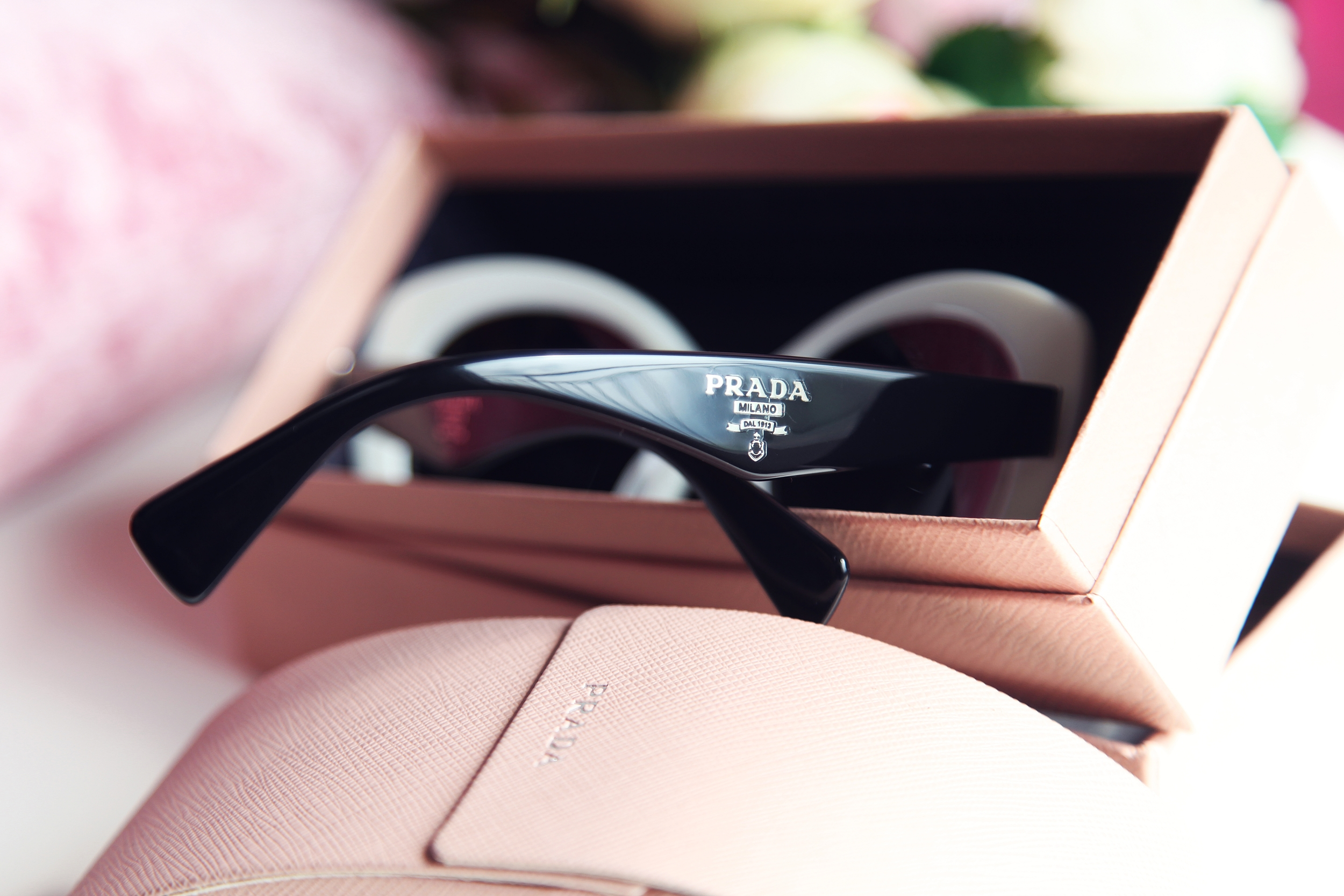 Prada White Sunglasses - Dyrogue