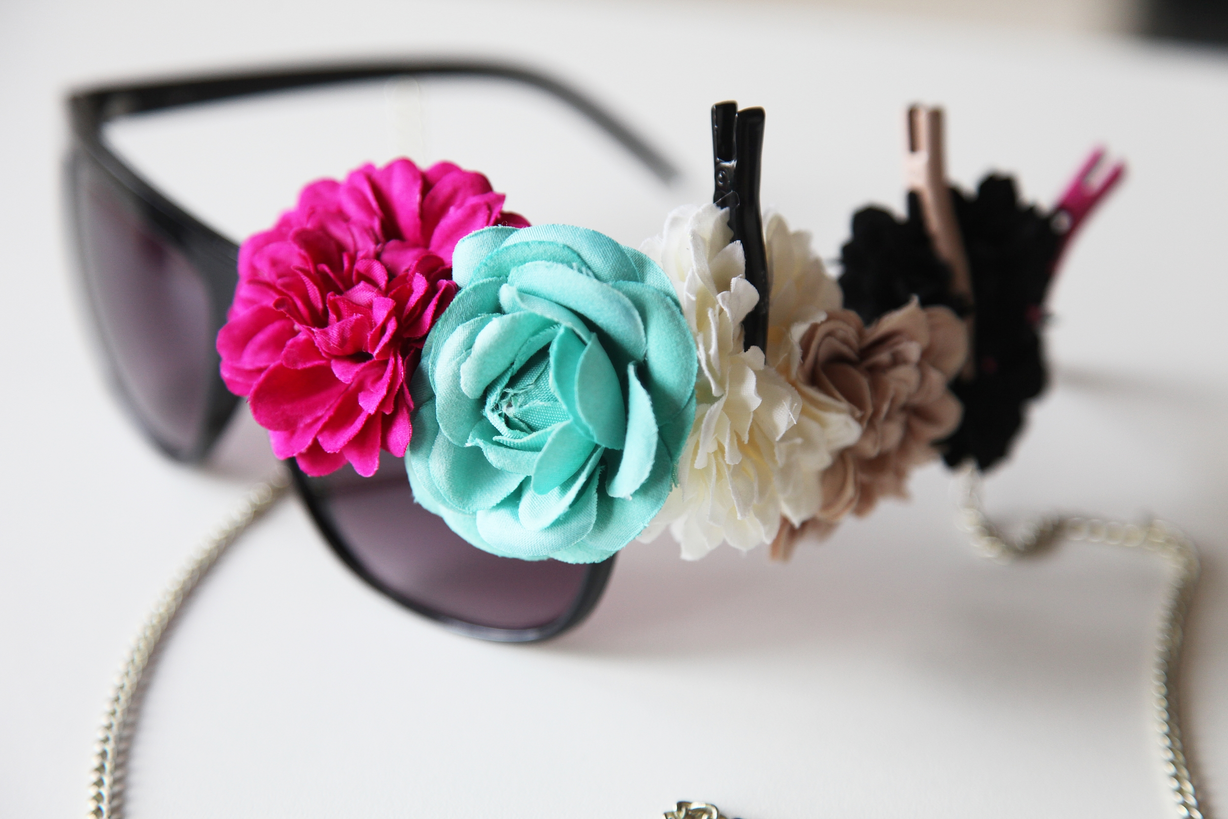 H&M DIY Floral decorated Party Sunglasses