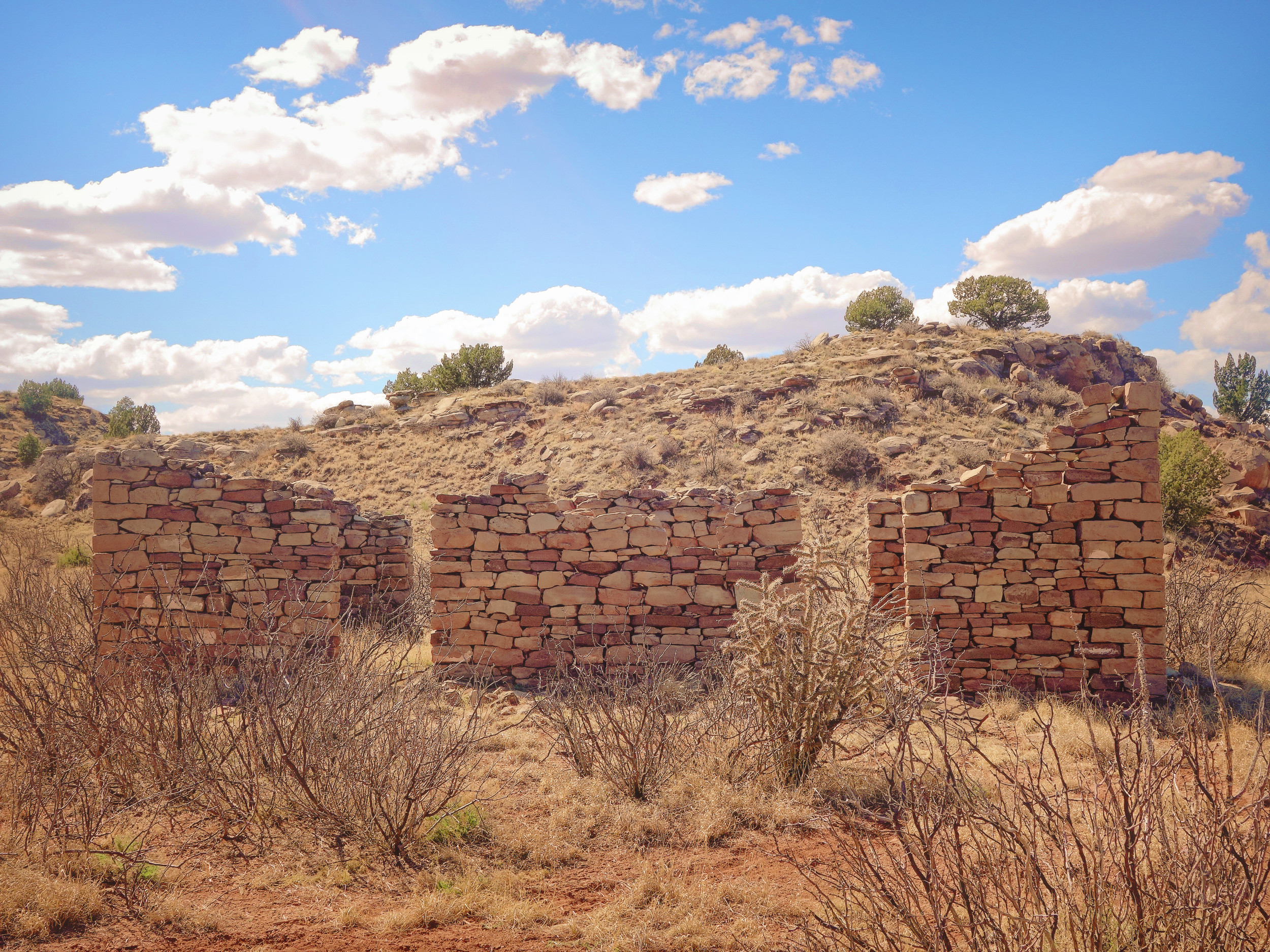 A sheepherder's stone cabin.
