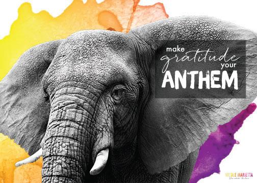 make gratitude your anthem