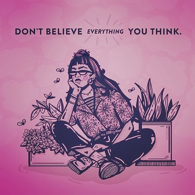 This is so true when it comes to the eating disorder voice, negative self-talk, or just day-to-day self-doubt. Don't believe everything you think, because often it's just plain untrue!! 🤔🤔🤔 #eatingdisorder #eatingdisorderrecovery #eatingdisorderawareness #eatingdisordertreatment #eatingdisordersupport #eatingdisorderssuck #edrecovery #edrecovered #edrecoveryquotes #anorexia #anorexiarecovery #bulimia #bulimiarecovery #ednosrecovery #ednos #osfed #osfedrecovery #bingeeating #bingeeatingrecovery #recovery #recoveryisworthit #negativeselftalk #selfdoubt #indianapolis #indiana #carmel #carmelindiana