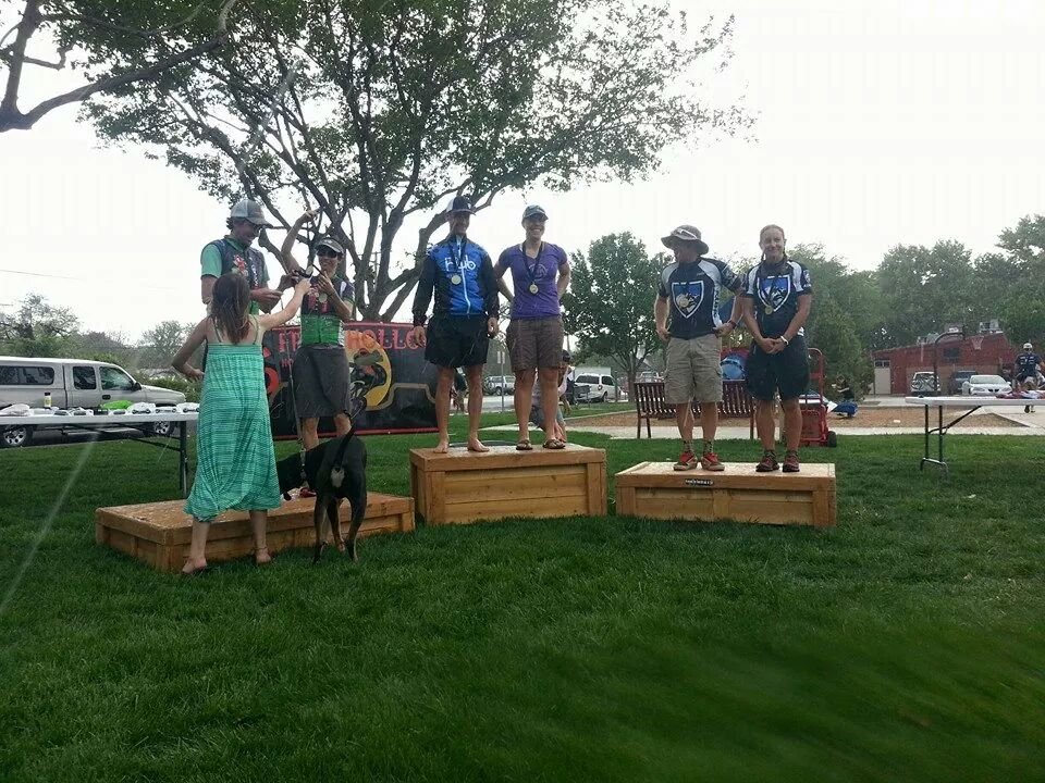 Cary and Jackson ex-pat Amanda Carey on the top step of the podium!