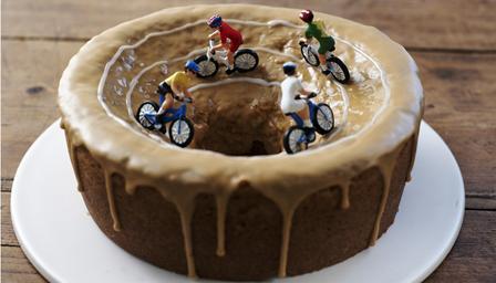 Team Sky dessert during the Tour.
