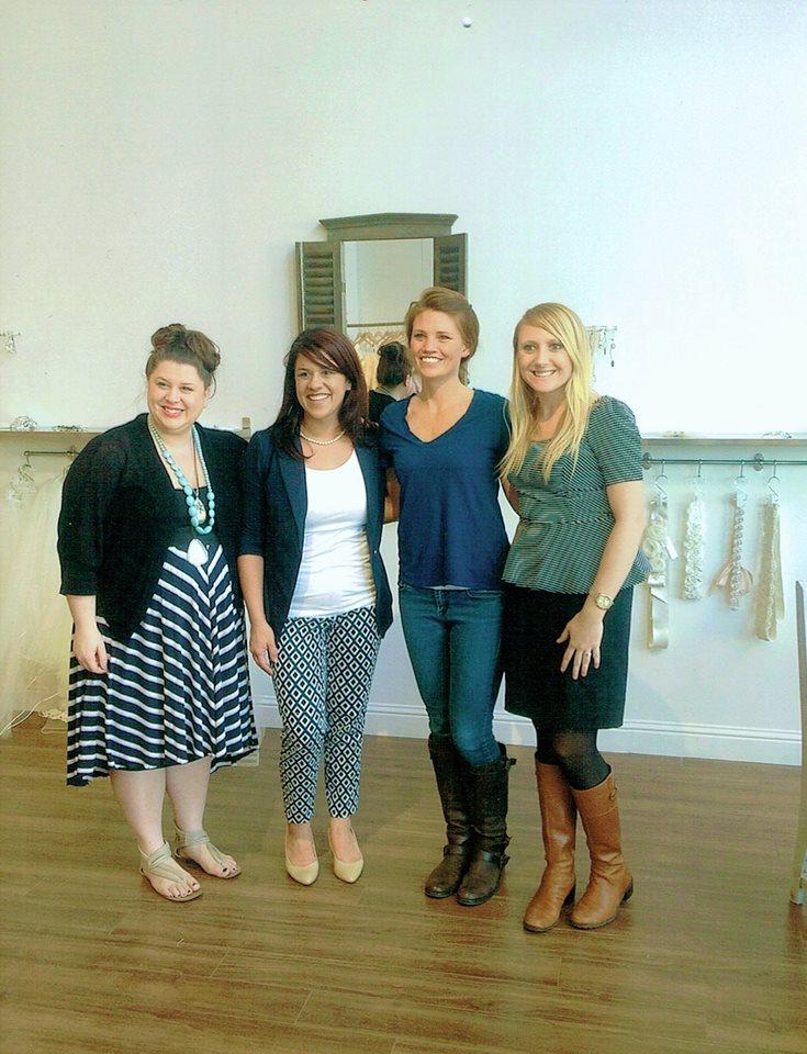 Tara LaTour, Dawn, Julia, and Amber after Julia said 'yes'!
