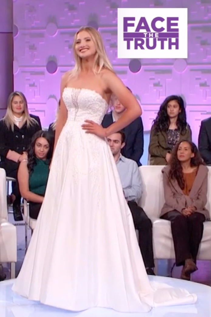 CBS FACE THE TRUTH - Bridal expert Amber Silva shows bride-to-be Syd three different styles of dresses for her big day – classic, royal wedding chic, and more of a sexy shape-fitting gown