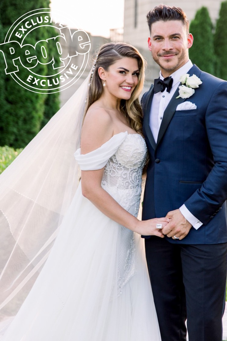 people | brittany carwright & jax taylor - Vanderpump Rules couple ties the knot at the Kentucky Castle. Bride, Brittany, wears a custom gown from Kinsley James Couture Bridal