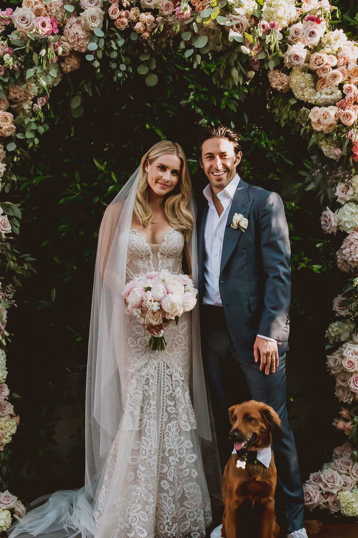 poeple | claire holt & Andrew Joblon - Actress, Claire Holt, gets married in a Pallas Couture gown from Kinsley James Couture Bridal
