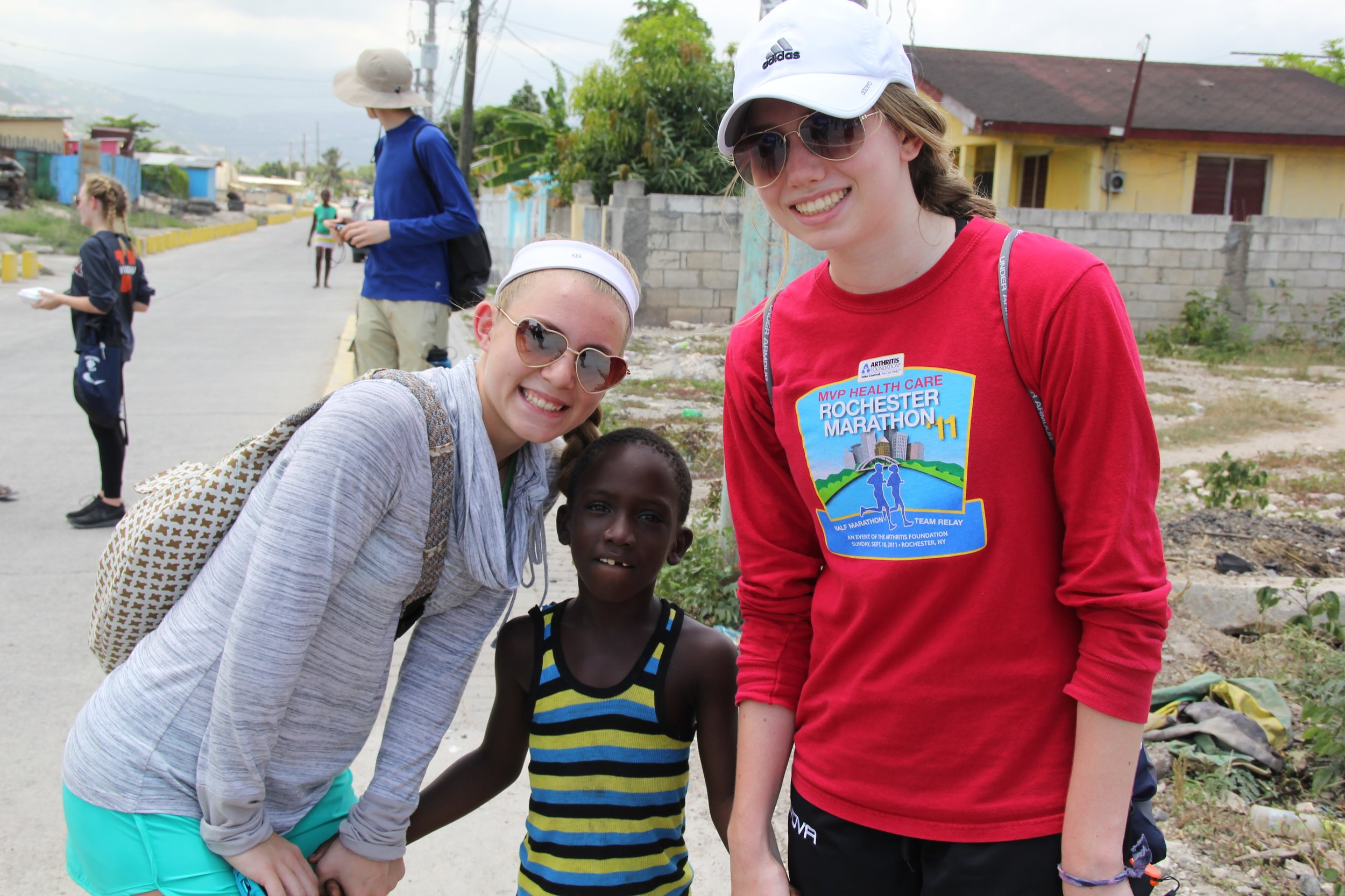 A few of our youth making friends at JASY!