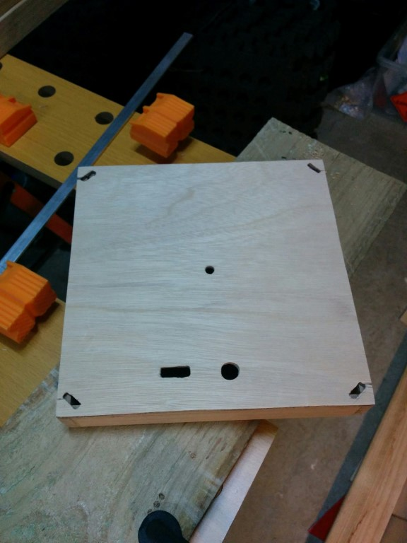 Starting with a square base made from plywood