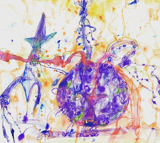 John Olsen — 'Squid with own ink' 'Coq au Vin' 'Bouillabaisse' (2010) #australianart #food #frenchfood #framing #abstract #art #abstractart #abstracters_anonymous #abstract_buff #abstraction #instagood #creative #artsy #beautiful #photooftheday #abstracto #stayabstract #instaabstract