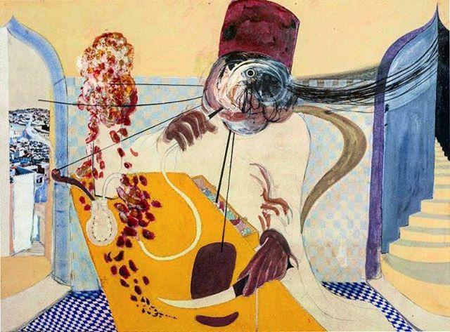 Brett Whiteley — 'The Dealer' (1967) #australianart #australianartist #art #artists #painting #oilpainting #framing #portrait #60s #art #illustration #drawing #draw #picture #artsy #instaart #beautiful #instagood #gallery #masterpiece #creative #photooftheday #instaartist #graphic #graphics #artoftheday