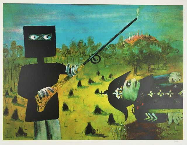 Hope you're having a better morning than that guy... Sidney Nolan — 'Death of Sergeant Kennedy at Stringy Bark Creek' (1946) #art #illustration #drawing #bushranger #framing #australianart #picture #artist #sketch #sketchbook #paper #pen #pencil #artsy #instaart #beautiful #instagood #gallery #masterpiece #creative #photooftheday #instaartist #graphic #graphics #artoftheday