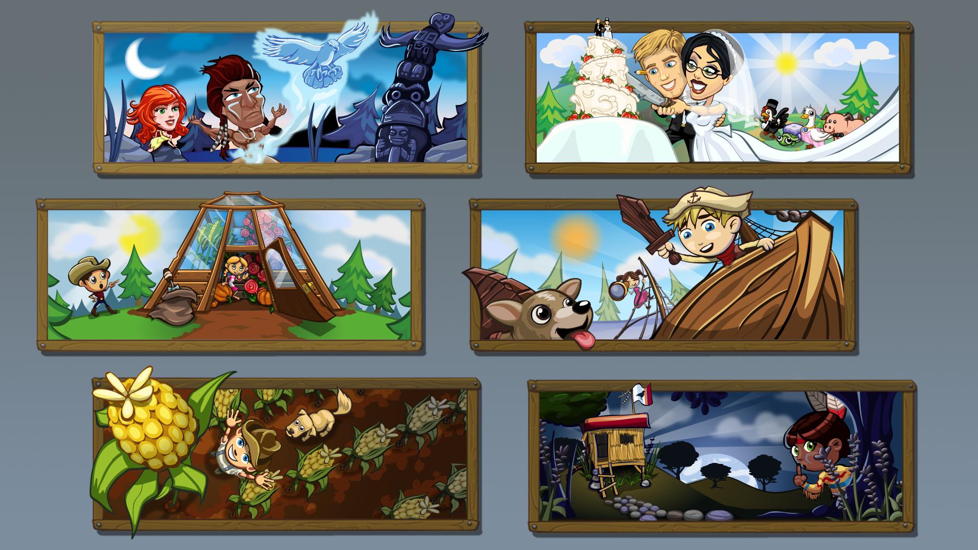 Pop up illustrations