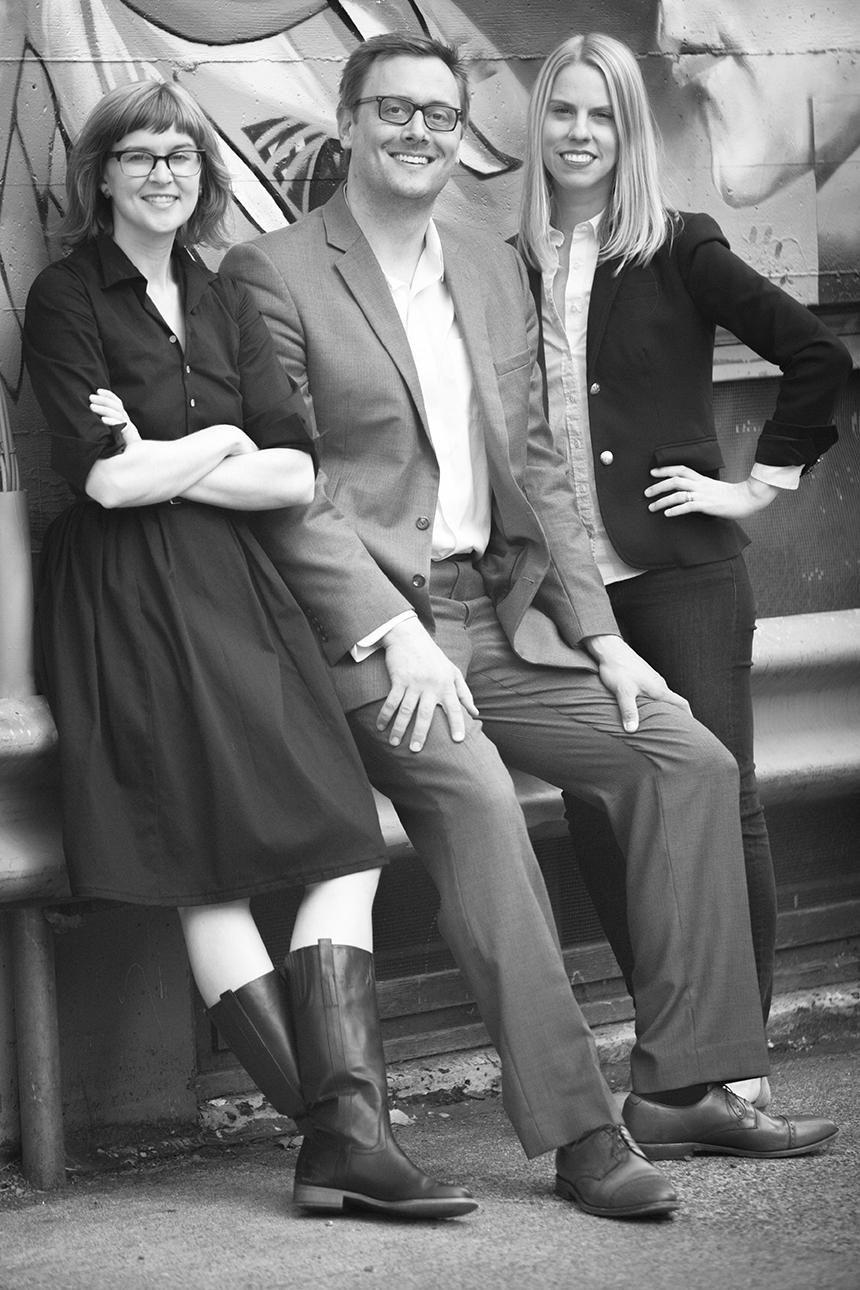 Co-founders Ryan Davis, Brad Wilke, and Jessica Marx