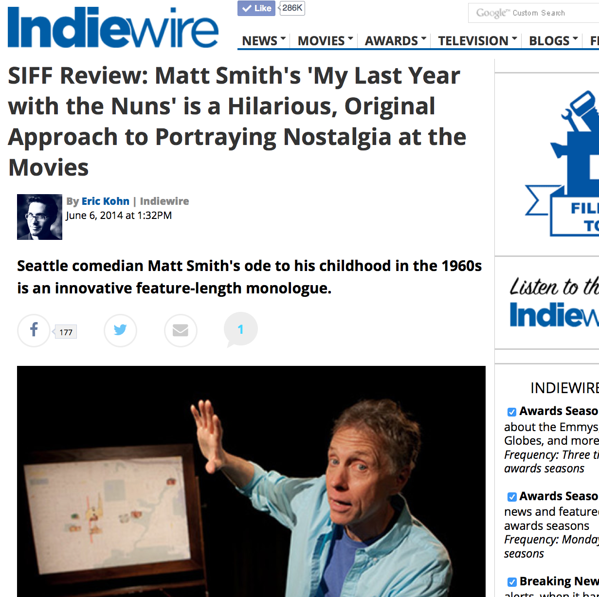 MY LAST YEAR WITH THE NUNS  World premiere & theatrical run / PR & social media