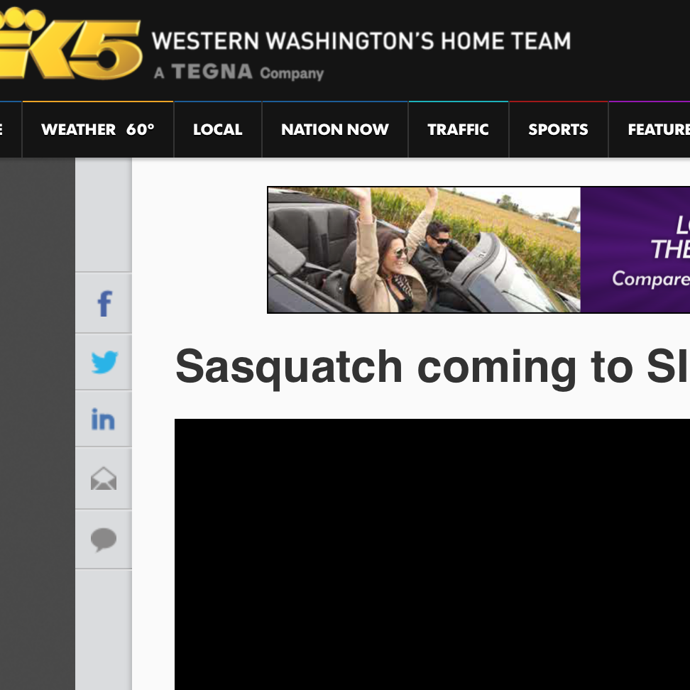 VALLEY OF THE SASQUATCH  Festival strategy and PR for World Premiere