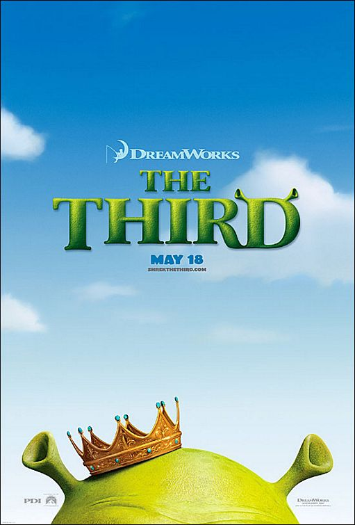 Less is more in the SHREK THE THIRD poster.
