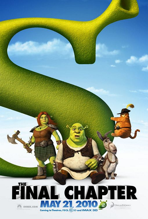 This version for SHREK FOREVER AFTER wants you to take note of the theatrical opening night.
