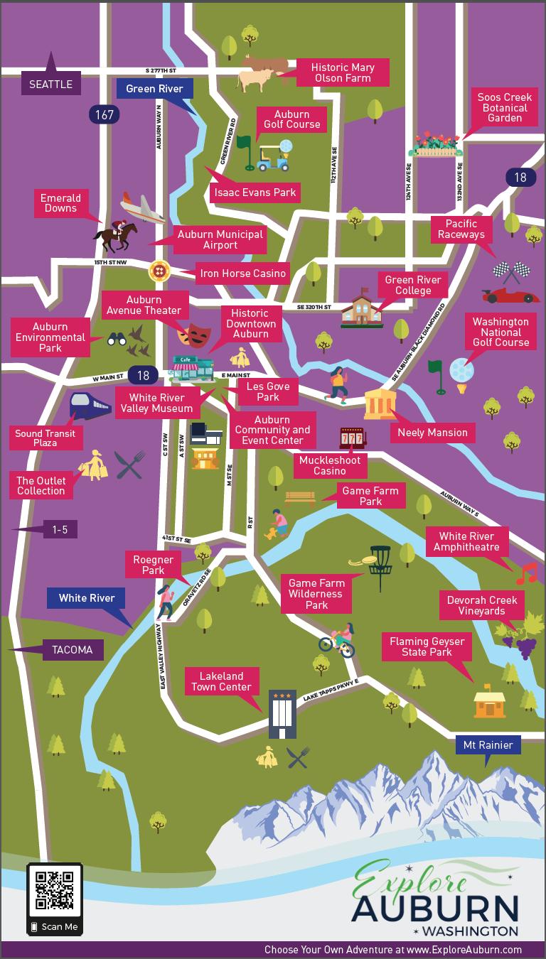 EXPLORE AUBURN  Auburn Tourism map