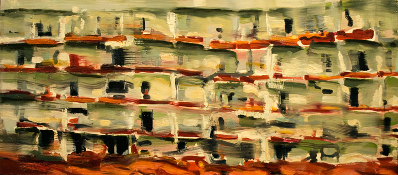 Kanevsky Tenement.   Oil on wood panel. 2009. 16 x 30 inches     |   SOLD