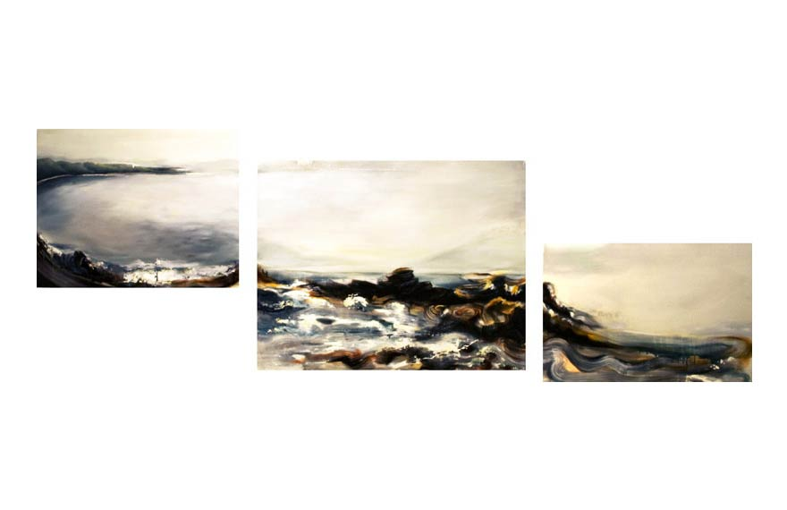 (Comissioned by Vy Bui).   Oil on canvas (Triptych). 2009. 10 feet across     |   SOLD