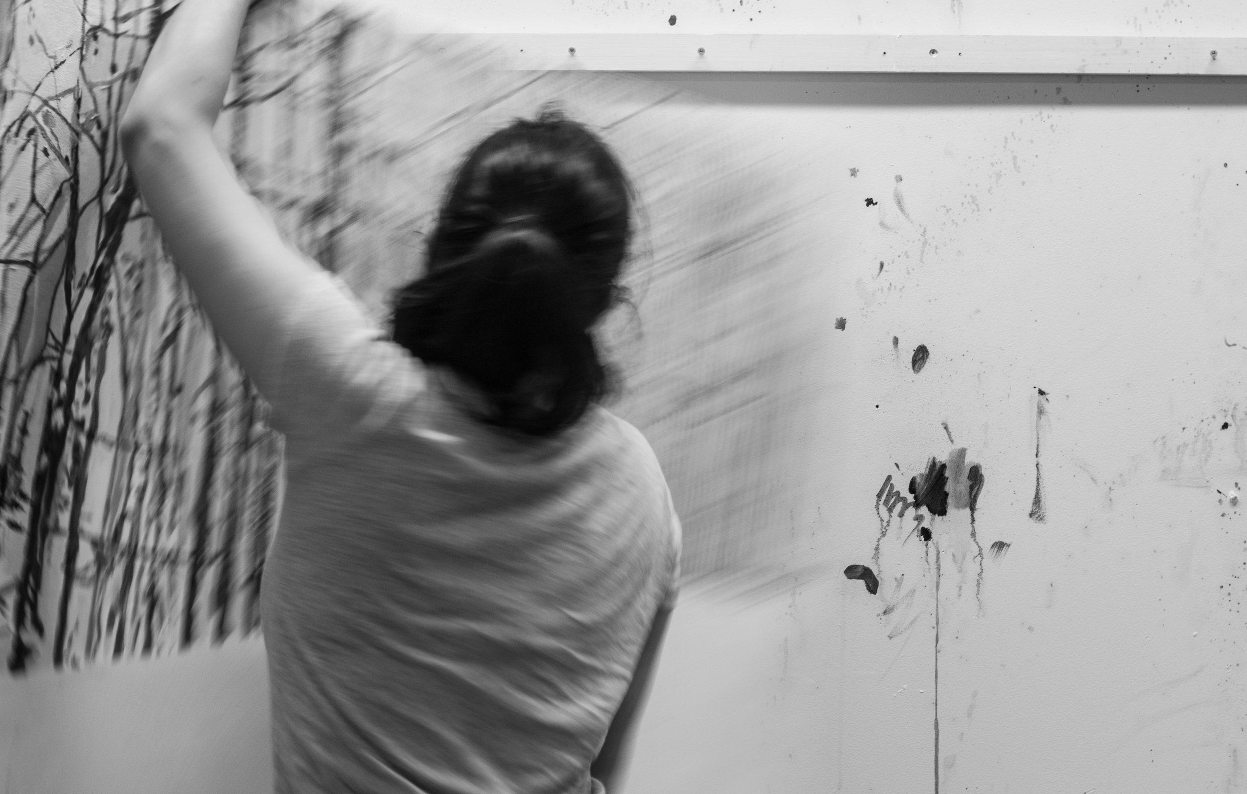 Heidi Zito in her studio in Brooklyn, NY.