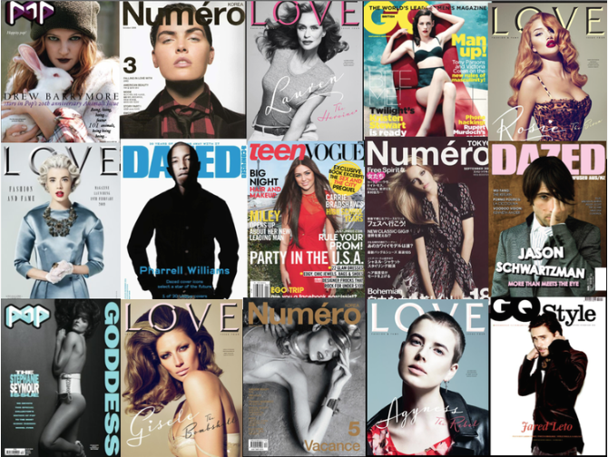 Magazine Covers Styled by Sally Lyndley