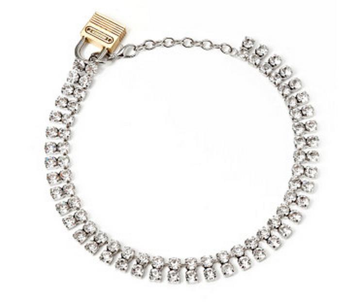 Rodarte Padlock Swarovski Necklace $300