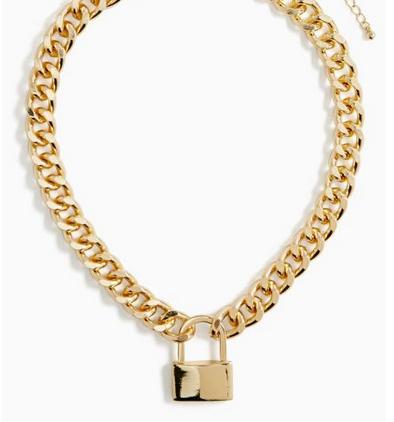 Nasty Gal Pop, Lock and Drop Necklace $25