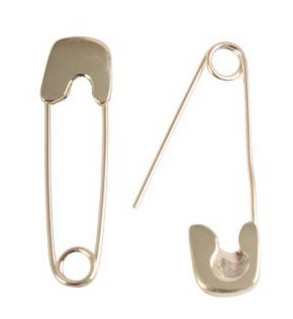 Conroy & Wilcox Gold Safety Pin Earring $275 each