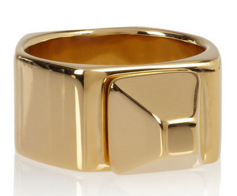 Saint Laurent Pyramid Ring $695
