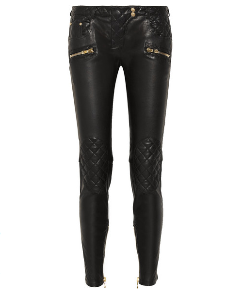 BALMAIN  leather skinny pants $3,690
