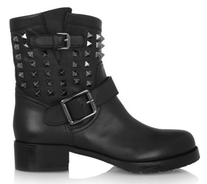 Valentino Stud Biker Boot $1495