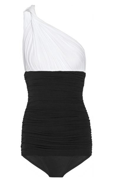 Norma Kamali One Shoulder Swimsuit $350