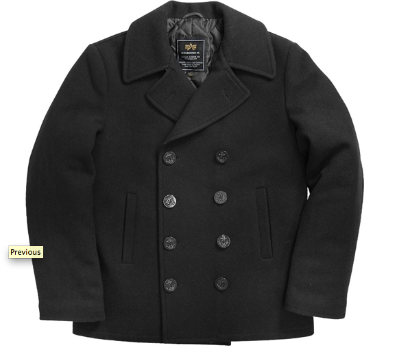 Alpha US Navy Classic Pea Coat $109.95