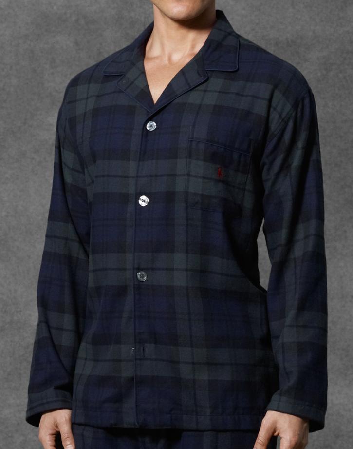 Polo Flannel Pajama Top $38