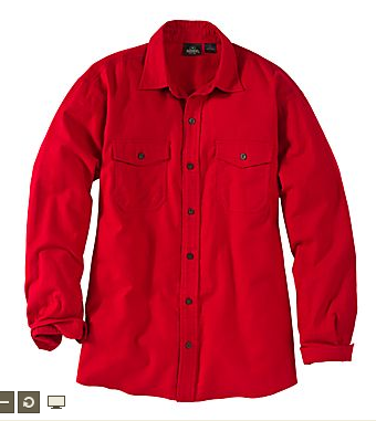 RedHead® Bear Creek Solid Flannel Shirt for Men - Long Sleeve $10