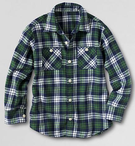 Lands End Boys Flannel Shirt $13