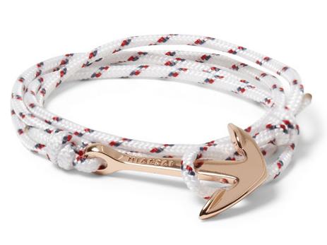 Mainsai Woven Cord Anchor Bracelet $80