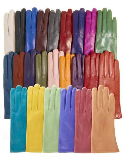 Fratelli Orsini Cashmere Lined Leather Gloves $55