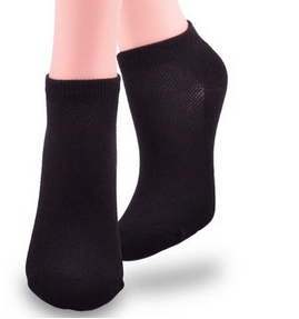 Soxnet Women's No Show Low Cut Socks 6-Pair Pack Solid Black with Mesh $6.99