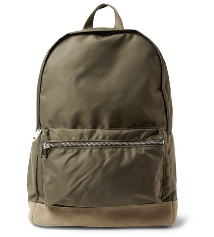 A.P.C. SUEDE-TRIMMED BACKPACK $205