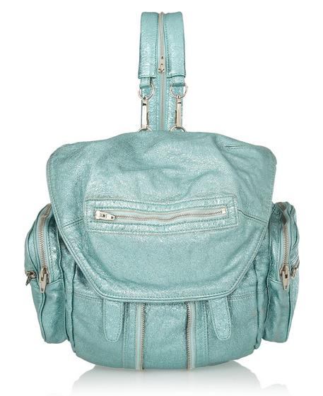 ALEXANDER WANG Marti metallic textured-leather backpack $1,150