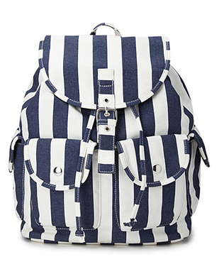 Cool Girl Striped Backpack $24.80