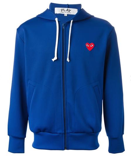 COMME DES GARÇONS PLAY full zipped hoodie $385.94