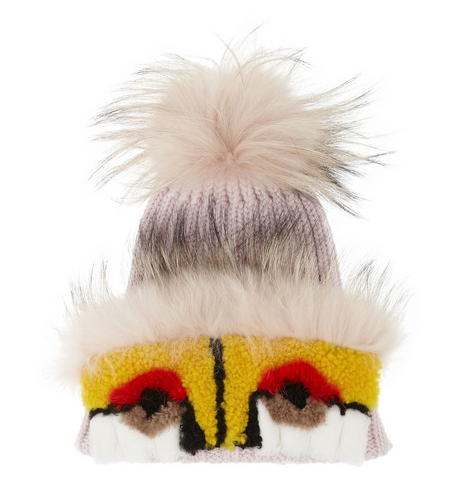 Monster fox, mink, shearling and cashmere hat $1,200