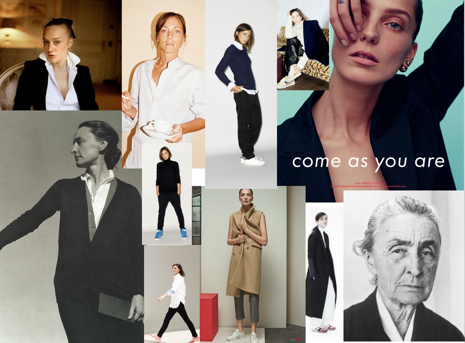 WORK Clothes Inspiration Collage