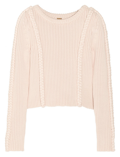 Adam Lippes Cropped Chunky-knit Cotton-blend Sweater $690