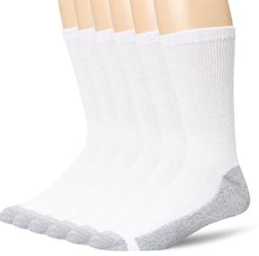 Hanes Men's 6 Pack Cushion Crew Sock $9.15