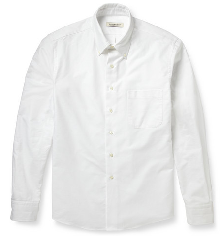 Raleigh Denim Buttom-Down Collar Cotton Oxford Shirt $220